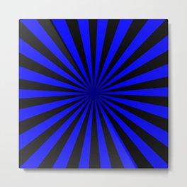 Starburst (Black & Blue Pattern) Metal Print