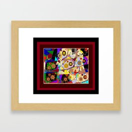 A Steampunk Automaton Gears and Cogs Framed Art Print