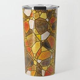stained glass mosaic Travel Mug