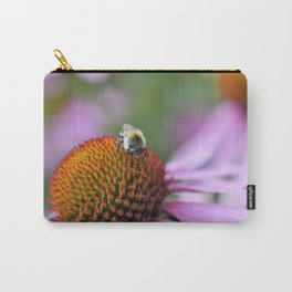 Bumblebee on pink flower Carry-All Pouch
