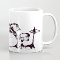 drums Mugs featuring Drums by Jake Stanton