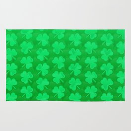 St. Patrick's Day Clovers Rug