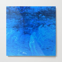 In liquid Indigo Metal Print
