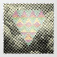 diamond Canvas Prints featuring Diamond by Metron