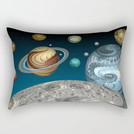 To The Moon And Beyond Rectangular Pillow