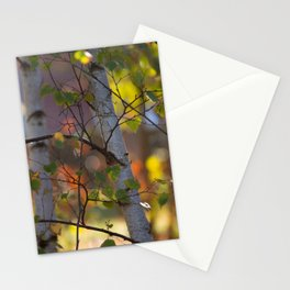 Birch-impressies in detail Stationery Cards