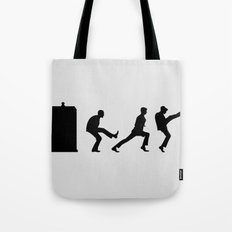 The Tardis of Silly Walks Tote Bag