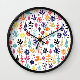 autumn multicolor leaves Wall Clock