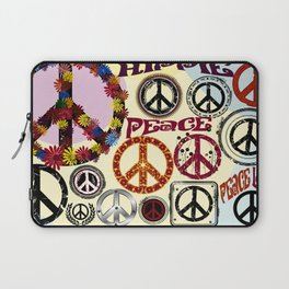 Flower Power Peace Signs Coctail Laptop Sleeve