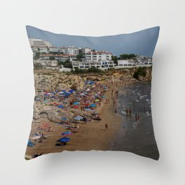 Spanish Beach II Throw Pillow