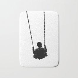 As He Swings (Black and White) Bath Mat