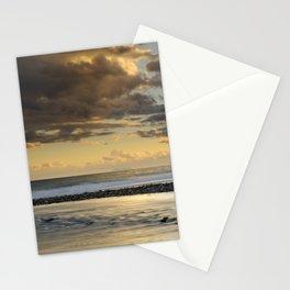Gibraltar. Mediterranean sea at sunset. Stationery Cards