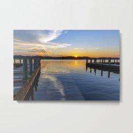 Sunset at the Boat Ramp Metal Print