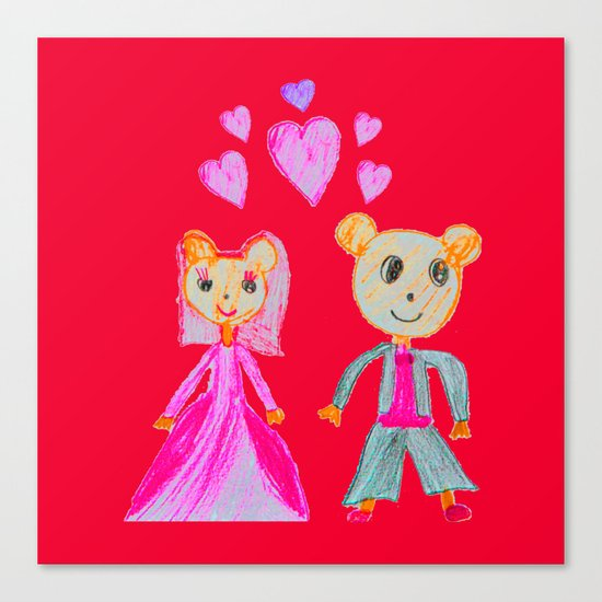 Simple Love | Kids Painting Canvas Print