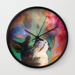 The Ancient Cat Thinking About The Early Days Wall Clock