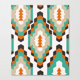 Ethnic Christmas pattern Canvas Print