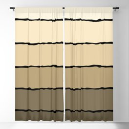 Cream and Beige Blackout Curtain