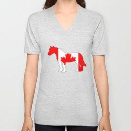 """Horse """"Canada"""" Unisex V-Neck"""