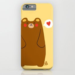 Bear heart for you iPhone Case