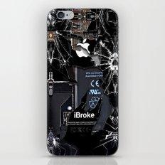 Broken, rupture, damaged, cracked black apple iPhone 4 5 5s 5c, ipad, pillow case and tshirt iPhone Skin