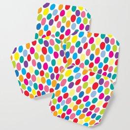 Colour Spots White Coaster