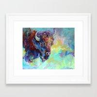 buffalo Framed Art Prints featuring Buffalo  by michelleku