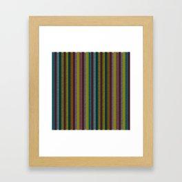 Retro Stripes, Boho Chic Framed Art Print