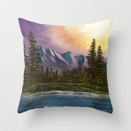 Spring Paint Along with Bob Ross on Netflix ep.1 Throw Pillow