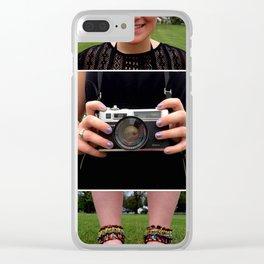 Camera Women Clear iPhone Case