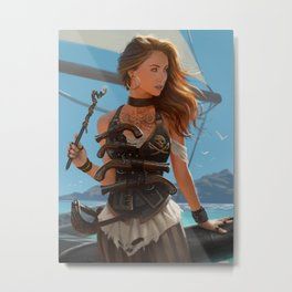 Franceska Drake the black powder pirate Metal Print