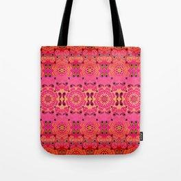 Pink Haze Bandana Ombre' Stripe Tote Bag