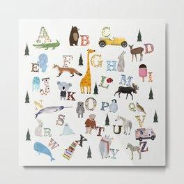 little nature alphabet Metal Print