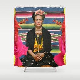 Frida Kahlo Folclore Shower Curtain