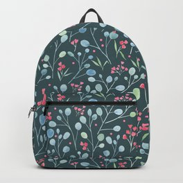 Eucalyptus and flowers Backpack