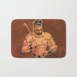 Be Good: Leather Muscular Man illustration Bath Mat