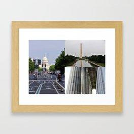 DC Collage Framed Art Print