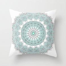Mandala - Pastels & White - Modern - Summer Throw Pillow