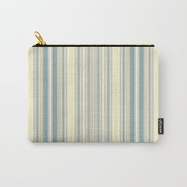 Seafoam Green Yellow Stripes Carry-All Pouch