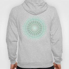 Mint White Geometric Mandala Hoody