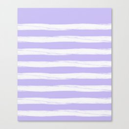 Lavender Purple Gross Stripes Canvas Print