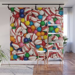 Peppermints and Gumballs Wall Mural