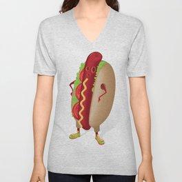 Happy Hotdog Unisex V-Neck