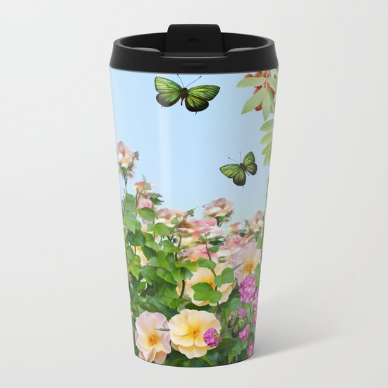 Wild Garden Metal Travel Mug