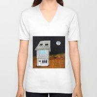 moonrise kingdom V-neck T-shirts featuring Moonrise Kingdom by Veronique de Jong · illustration