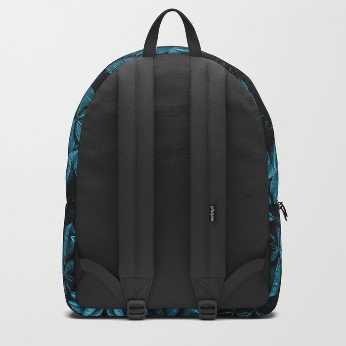TEAL LEAVES MANDALA Backpack