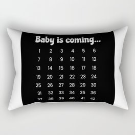 Baby Is Coming Pregnancy Maternity Rectangular Pillow