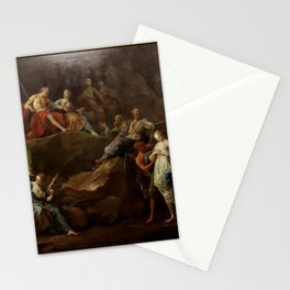 Jean II Restout - Orpheus in Hades Asking for Eurydice Stationery Cards