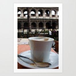 Colosseum Cappuccino Art Print