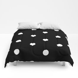 Black and White Polka Dot Pattern Comforters