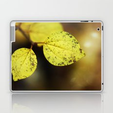 yellow leaves. Laptop & iPad Skin